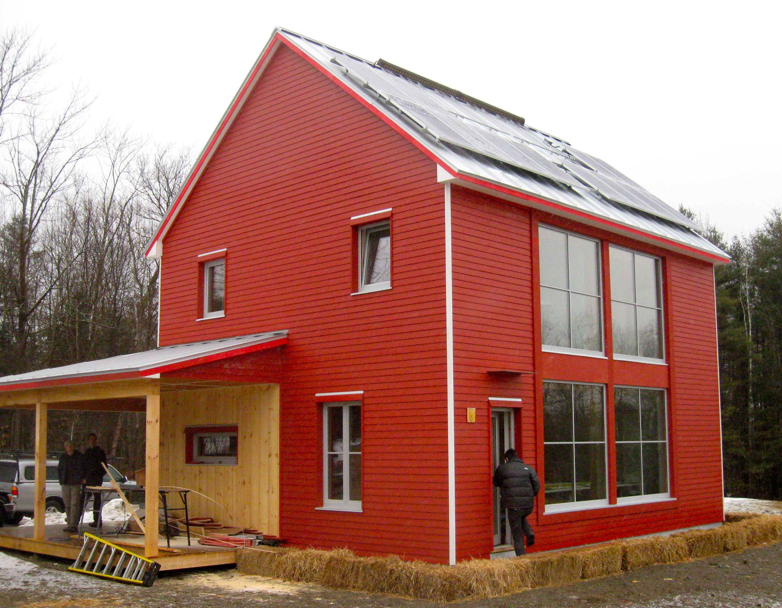 The student passive house design charette unity college for Cold climate house plans