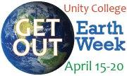 Earth day logo white